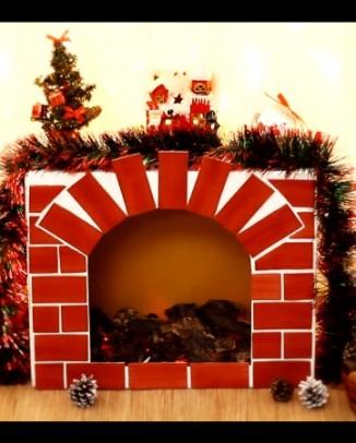 DIY Cheminée Noël